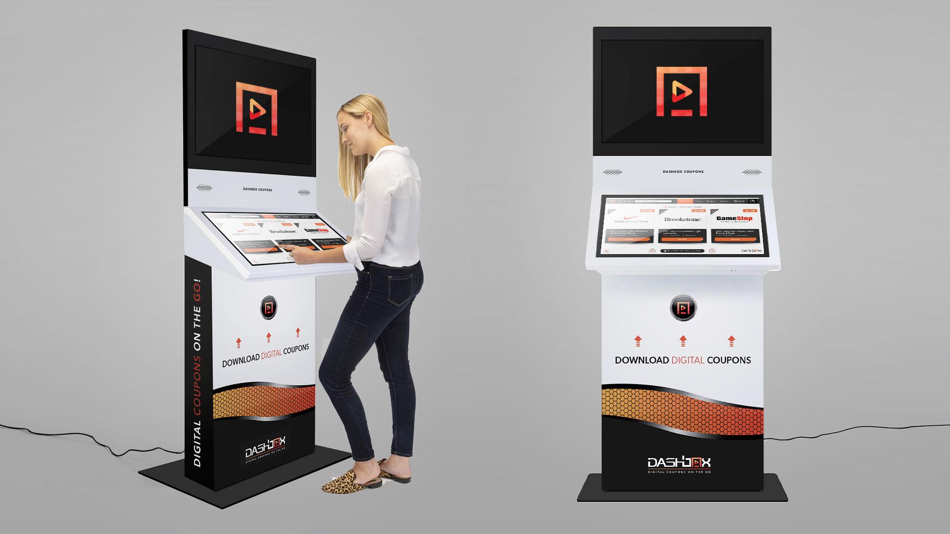 RITS Creative team designs new Digital kiosk Mockups for our client DASH MEDIA